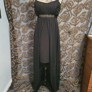 Women's Hi-Low Evening Dress  Black & Copper
